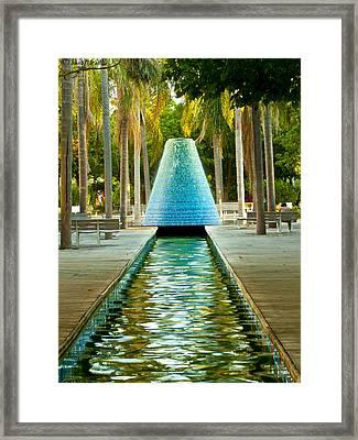 Fuente Framed Print by Luis oscar Sanchez