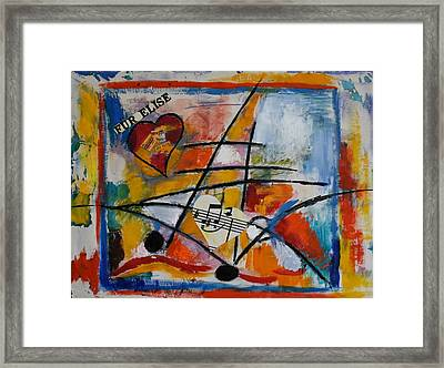 Fuer Elise Framed Print by Karin Eisermann