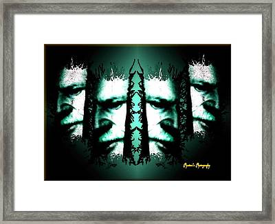 Framed Print featuring the digital art Fugitive by Sadie Reneau