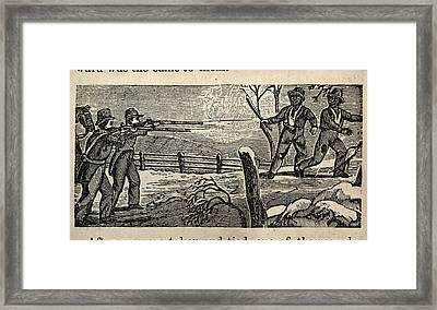 Fugitive Slave Henry Bibb Was Captured Framed Print