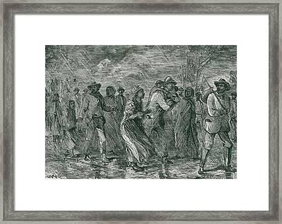 Fugitive Slaves Fleeing From Eastern Framed Print
