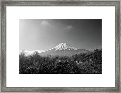 Fujisan Injapan Framed Print by B&W landscape street