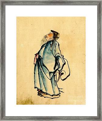 Fukurokuju God Of Wisdom 1840 Framed Print by Padre Art