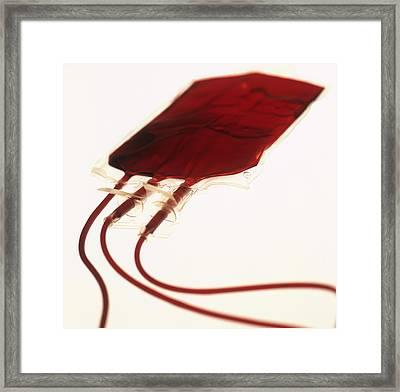 Full Blood Bag Framed Print