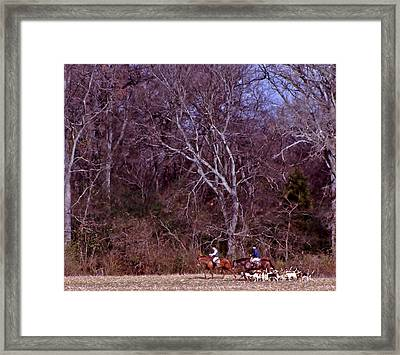 Full Cry Hunt Framed Print