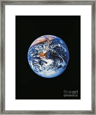 Full Earth From Space Framed Print by Stocktrek Images