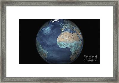 Full Earth Showing Evaporation Framed Print by Stocktrek Images