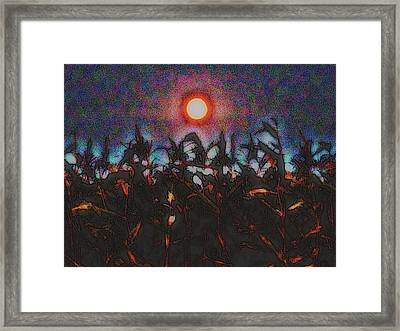 Full Harvest Moon Iowa Framed Print