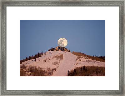 Full Moon Alpenglow Framed Print