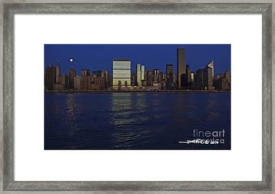 Full Moon Eastside Framed Print