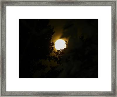Framed Print featuring the photograph Full Moon by Ester  Rogers