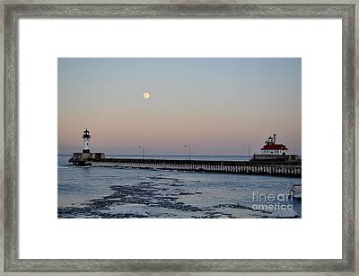 Full Moon Ice Framed Print by Whispering Feather Gallery