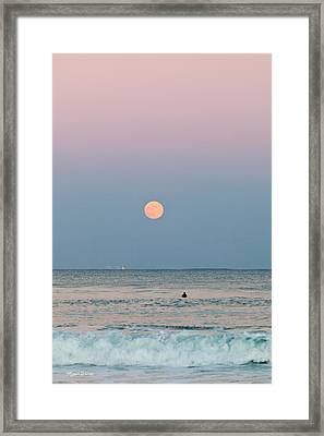 Full Moon In Taurus October 29 2012 Framed Print by Michelle Wiarda
