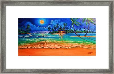 Full Moon Lagoon Framed Print by Joseph   Ruff