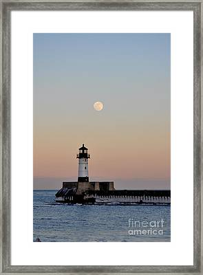 Full Moon Light Framed Print by Whispering Feather Gallery