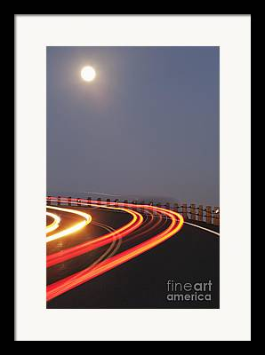 Double Yellow Line Framed Prints