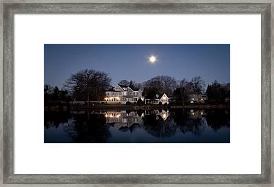 Full Moon Over Babylon Framed Print by Vicki Jauron