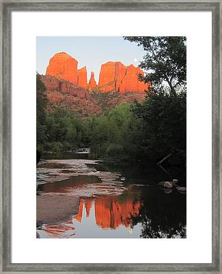 Full Moon Over Cathedral Rock Framed Print