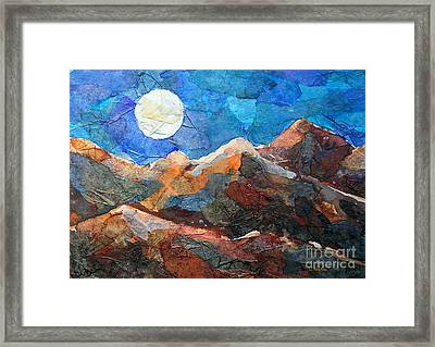 Full Moon Over The Sierras Framed Print by Li Newton