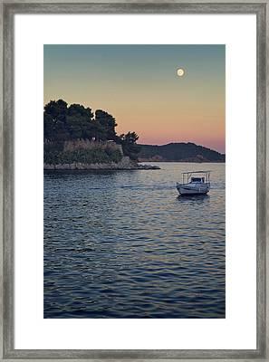 Full Moon Rising Framed Print by Dreaming For A Living