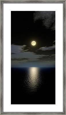 Full Moon Setting Framed Print by Detlev Van Ravenswaay