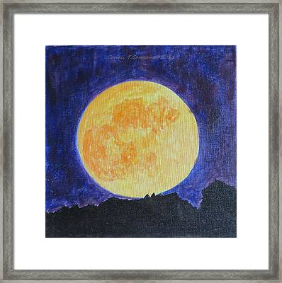 Framed Print featuring the painting Full Moon by Sonali Gangane