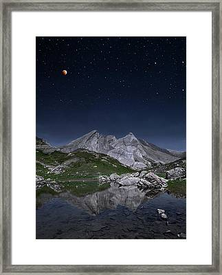 Full Moon To Giants Framed Print by © Yannick Lefevre - Photography