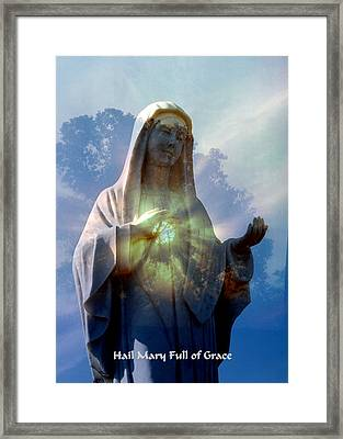 Full Of Grace Framed Print