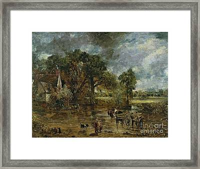 Full Scale Study For 'the Hay Wain' Framed Print by John Constable