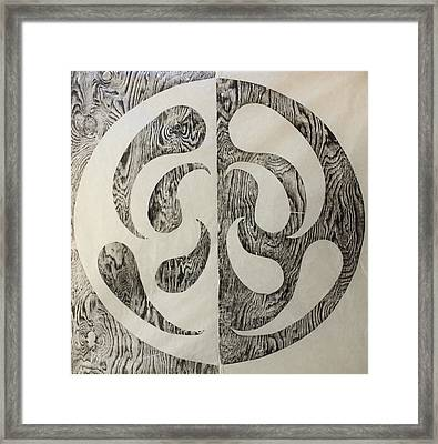 Full Swing Yin Yang Framed Print
