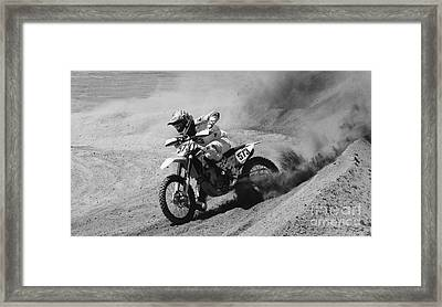 Full Throttle Monochrome Framed Print by Bob Christopher