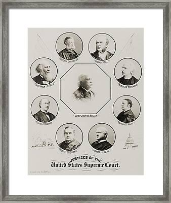 Fuller Court. United States Supreme Framed Print