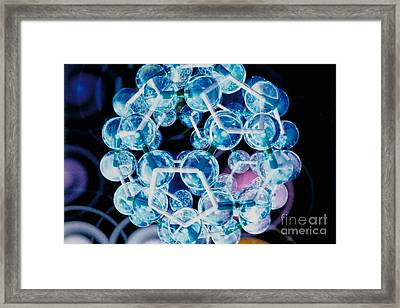 Fullerene Molecule Of Carbon Framed Print by DOE/Science Source