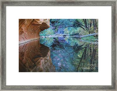 Fully Reflected Framed Print by Heather Kirk