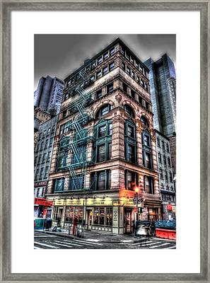 Fulton And Nassau Framed Print by Frank Garciarubio