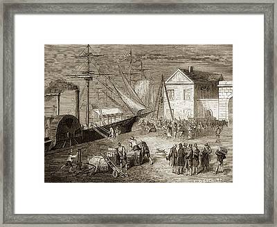 Fulton Boarding The Clermont Framed Print by Sheila Terry