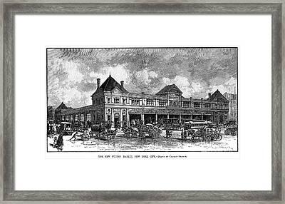 Fulton Fish Market, 1882 Framed Print by Granger