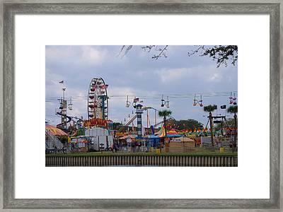Fun At The Fair Framed Print by Judy Hall-Folde