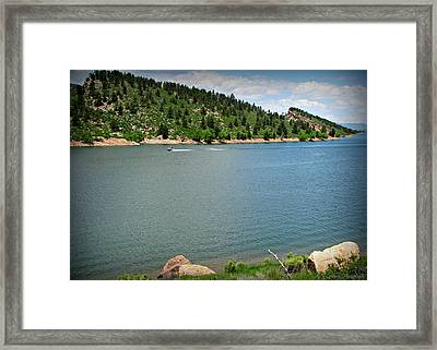 Fun At The Lake Framed Print by Aaron Burrows