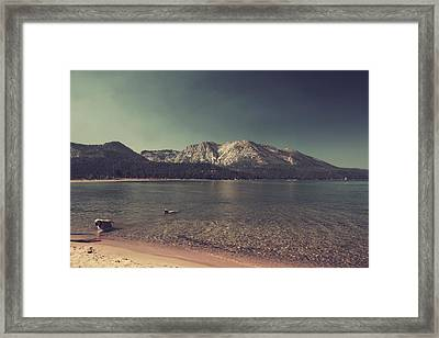 Fun At The Lake Framed Print by Laurie Search