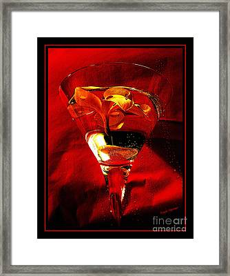 Fun In A Glass Framed Print by Kaye Menner