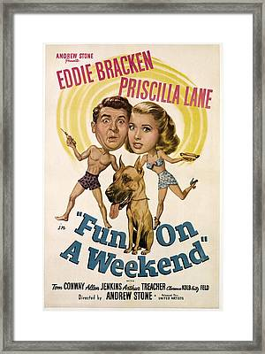Fun On A Weekend, From Left, Eddie Framed Print by Everett