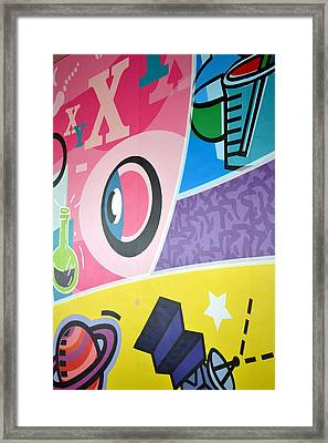 Fun Wall Framed Print by Ku Azhar Ku Saud