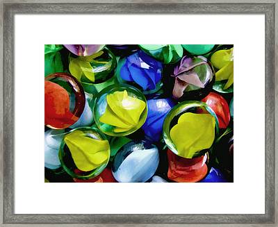 Fun With Circles Framed Print