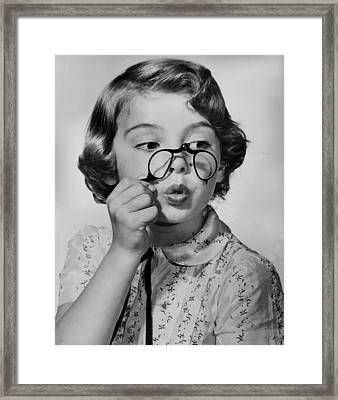 Fun With Pince-nez Framed Print by Archive Photos