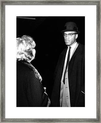 Funeral Of Malcolm X. Betty Little Framed Print by Everett