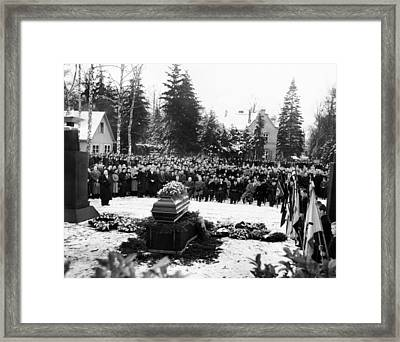 Funeral Service For 16 Year Old Joachim Framed Print by Everett