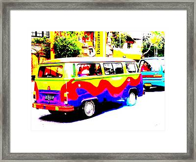 Funky Bali Bus  Framed Print by Funkpix Photo Hunter