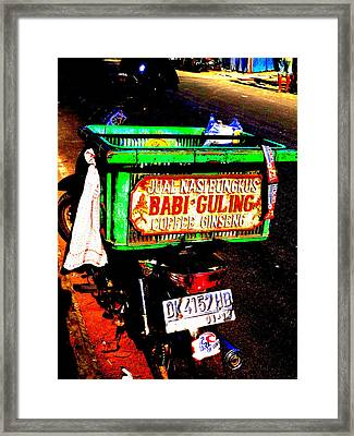 Funky Balinese Motorbike Framed Print by Funkpix Photo Hunter