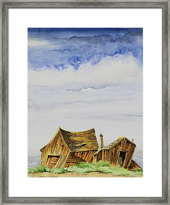 Funky Little Shacks Framed Print